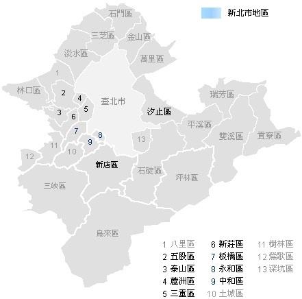 新北市區域_map